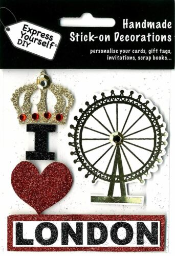 I LONDON Topper Express Yourself DIY Ideal for Card Ma self adhesive Heart