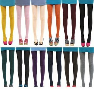 Candy Colors Opaque Footed Socks Tights Slim Pantyhose Women Stockings Beauty