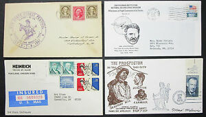 US-Postage-Set-of-4-Covers-Letters-Seneca-Trail-Illustrated-USA-Letters-H-8310