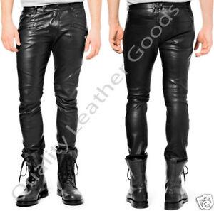 Pour Luxe Compatible Outrageusement Cuir Jeans Hommes Avec De Cuisse vgdqSwd