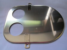 NORTON COMMANDO TWIN CARB AIR FILTER FRONT PLATE STAINLESS STEEL 06-0902S