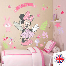 DISNEY MINNIE MOUSE Wall Stickers Nursery GIRLS BABY FLOWERS PINK ANIMALS FAIRY