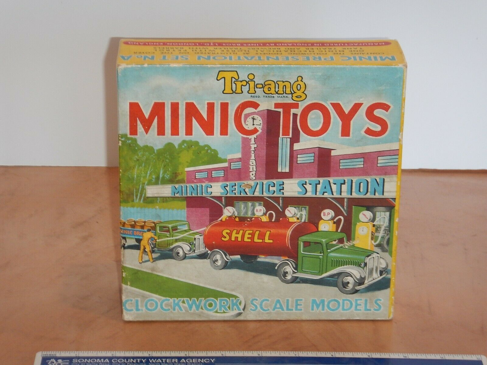 VINTAGE, ORIGINAL TRIANG MINIC PRESENTATION SET NO. A ORIGINAL BOX - BOX ONLY
