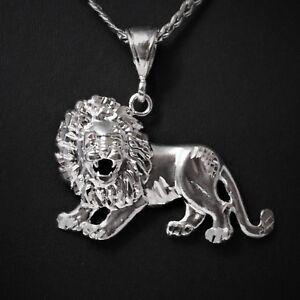 2-034-Long-Genuine-Solid-925-Sterling-Silver-Lion-King-Boss-Rasta-Pendant