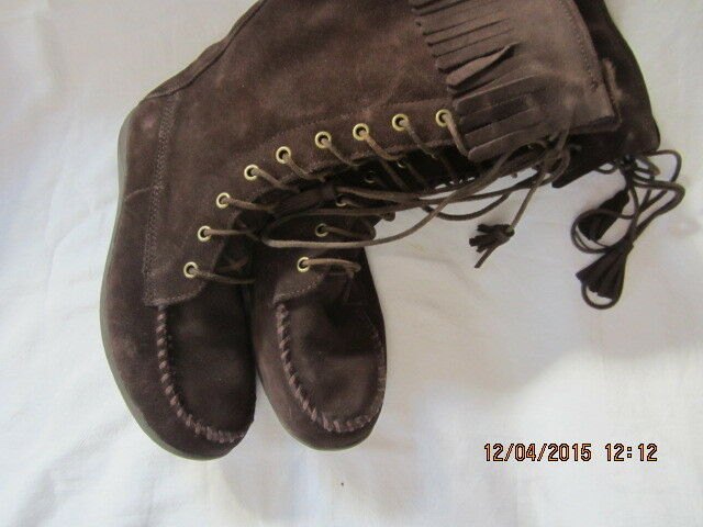 Preowned Women's Size 8 Tall Brown Suede L.L. L.L. L.L. Bean Leather Boots VN 05488 8bd133