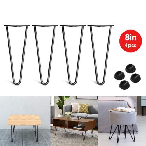 4x Hairpin Legs Couchtisch Tischbein Tischfuß Haarnadelbeine Schwarz Bodenschutz
