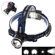 Waterproof 1800Lm CREE XM-L T6 LED Headlamp Headlight Light Zoomable Lamp Head