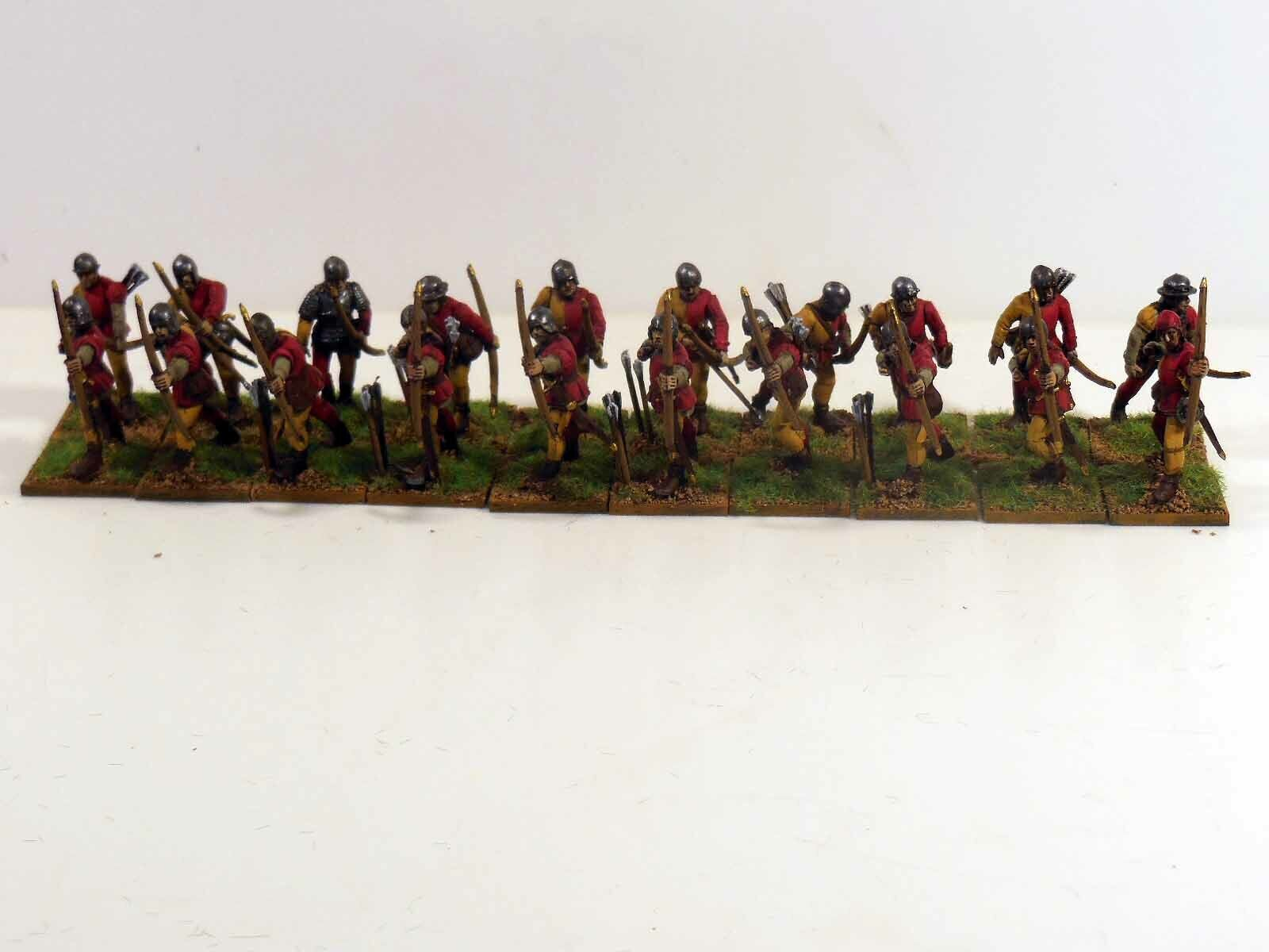 28mm War Of The pinks Bowmen - 20 Figures - Painted & Based