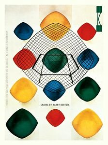 MID CENTURY 1950/'S EAMES KNOLL BERTOIA CHAIRS ADVERTISEMENT A3 POSTER RE PRINT