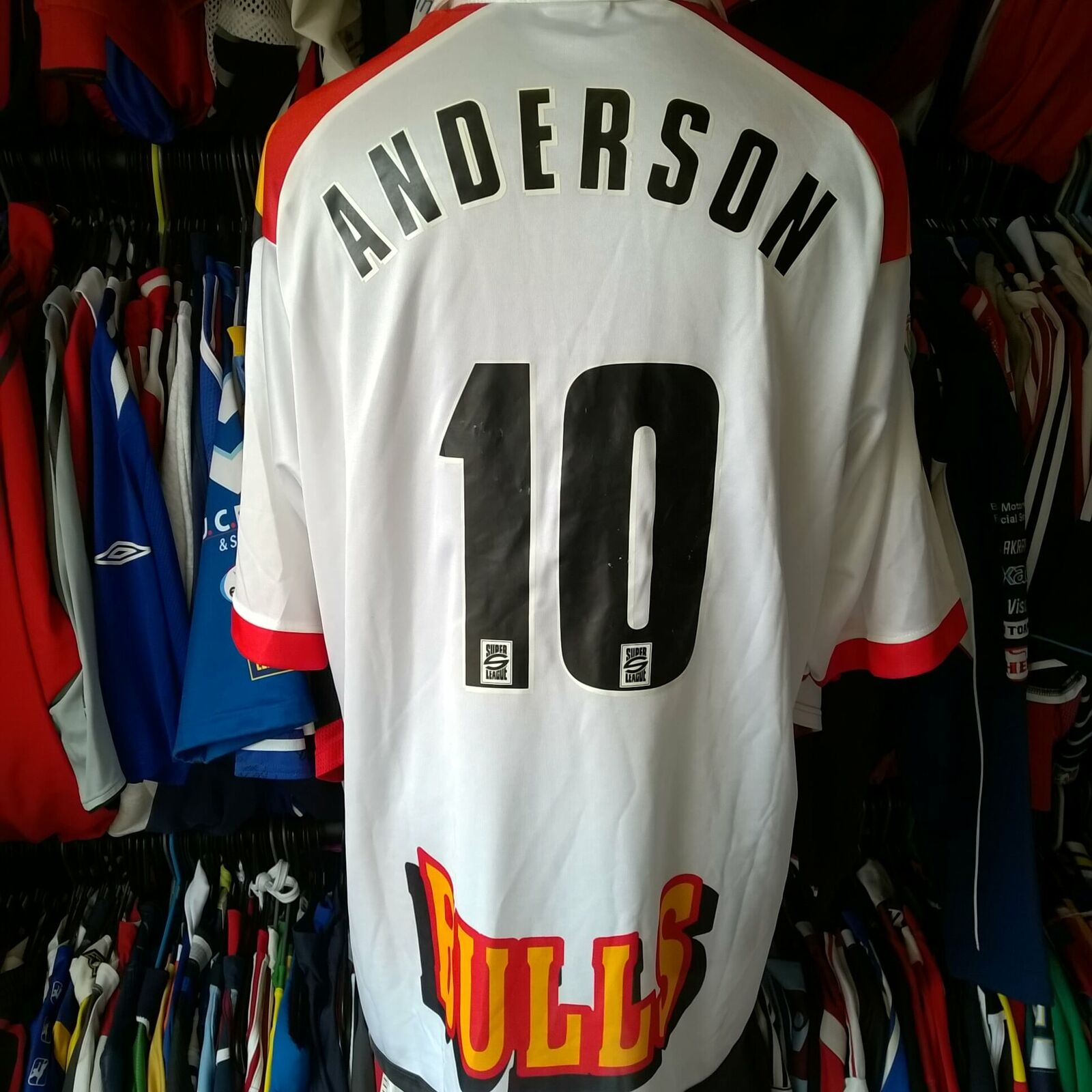 BRADFORD BULLS 2001 LEAGUE RUGBY SHIRT PLAYER ISSUE ANDERSON SIZE ADULT 2XL