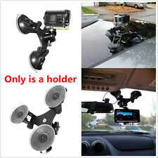 Triple Low Angle Suction Cup Mount Holder +Ball head for Car Gopro 2 3+ 4 Camera