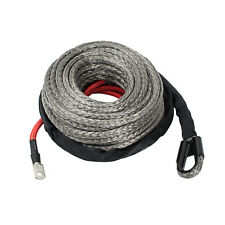 Zeak 1265 Gray Synthetic Winch Rope 24000lb Winch Recovery Rope Cable