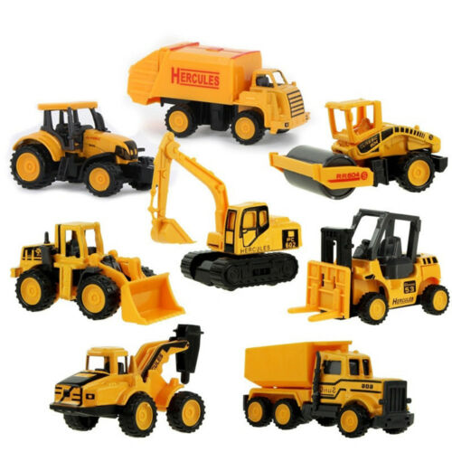8 types Diecast Mini Alloy Construction Vehicle Engineering Car Dump Truck Model