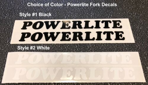 choice either Black or White and others 1 pair POWERLITE FORK Decals