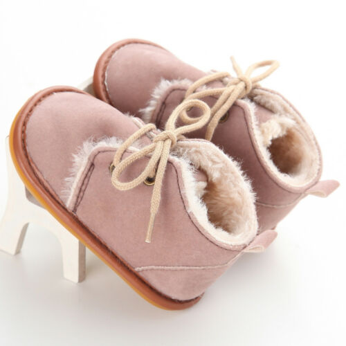 Kids Winter Warm Baby Boots Infant Booties Toddler Girl Boy Walking Unisex Shoes