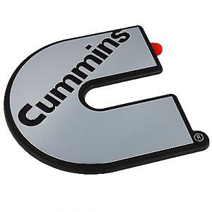 Cummins chrome sticker/badge/Decal. Truck,Kenworth,Freightliner,W/star,Ute