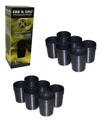NEW! (2) C.A.P EBB-EXP6 EBB & GRO Grow Flow 6 Pot Site Hydroponic Expansion Kits