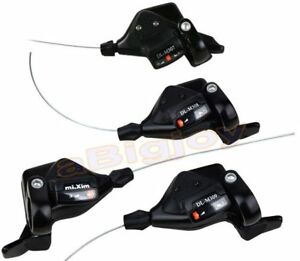3x7//8//9S Thumb Shifters 21//24//27Speed MTB Mountain Bike Shift Levers w//Cables