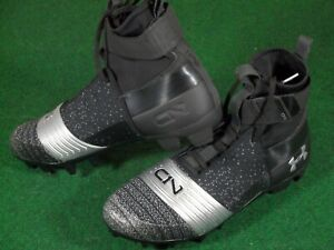b004c32c5c87 New UA Under Armour C1N Cam Newton MC Football Cleats Black Silver ...