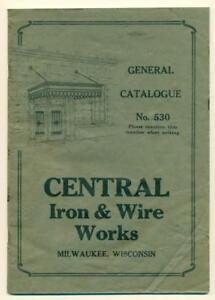 Price Guides & Publications Have An Inquiring Mind C1930s Central Iron & Wire Works Milwaukee Wisconsin Fence Gate Fire Escape Etc Firm In Structure