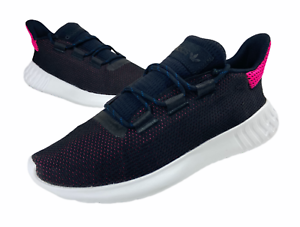 Adidas-Womens-Originals-Tubular-Dusk-W-Running-Shoe-Black-White-Size-10-AQ1198