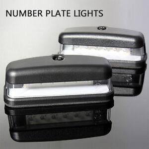 2X-12V-6-LED-Lampara-Luz-Trasera-numero-de-licencia-placa-Camion-Caravana-Remolque