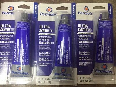 Honest 3 New Permatex 82135 Ultra Synthetic Rtv Gasket Maker 3.5oz Import Or Domestic