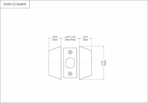Arlington Designers Impressions Matte Black Double Cylinder Deadbolt Door Lock