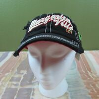Margarita Ville Distressed Black Baseball Cap One Size Fits All