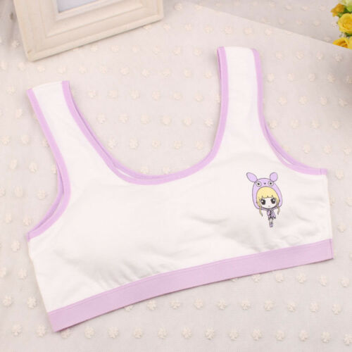 New Casual Sweet Lovely Girls Print Underwear Bra Vest Underclothes Sport Undies