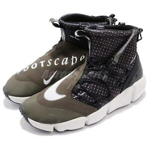 d573008bc49f Nike Air Footscape Mid Utility Tokyo Black Cargo Khaki NSW Men Shoes ...