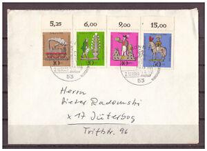 Rfa-Minr-604-607-Superieur-Esst-Bonn-02-10-1969-Reel-apres-Juterborg-Gelaufen