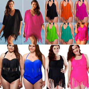 Women-Boho-Tassel-Swimwear-Bikini-Cover-Up-Swimsuit-Summer-Beach-Dress-Plus-Size