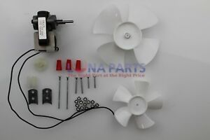 Electric-Fan-Motor-Kit-w-Blower-Wheels-1-4-034-Shaft-120V-Bathroom-Exhaust-Vent