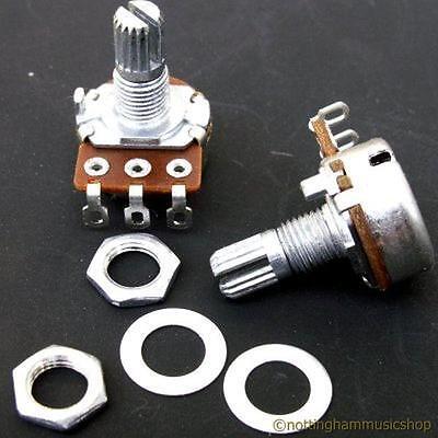250k ohms type A log guitar pot sub miniature long potentiometer tone ST TL PB