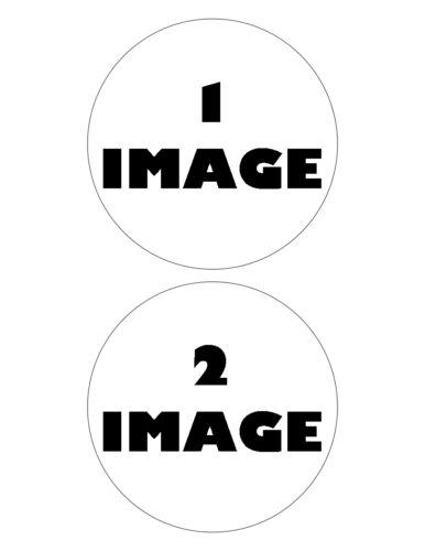 2 images-comestible gaufre papier de riz cupcake toppers 2x 12.5cm rond personnalisé