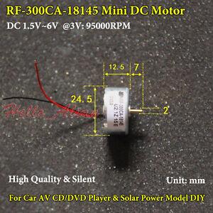 DC 1.5V 3V 5V 6V 5500RPM Mini RF-300 Motor Micro 24.5mm Round Toy Hobby Motor