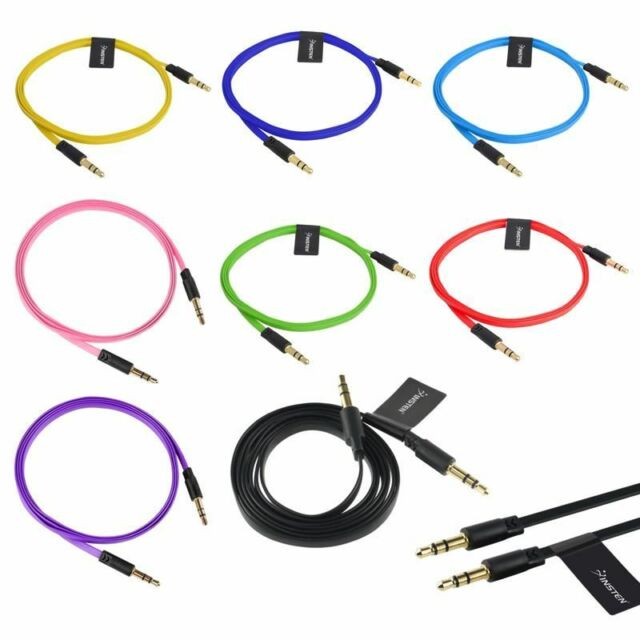 Shielded Stereo Cable 3-Ft 1//8 3.5mm Plug to 1//8 3.5mm Plug Pink