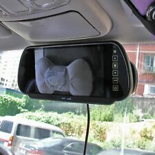 "7"" LCD Wireless Car Bus Rear View Kit Backup Reversing Camera DVD Mirror Monitor"