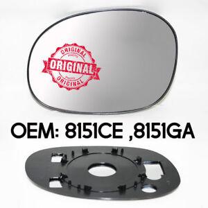 Neu-Linker-Fluegel-Spiegelglas-amp-Silber-Links-fuer-Citroen-C2-2003-2008