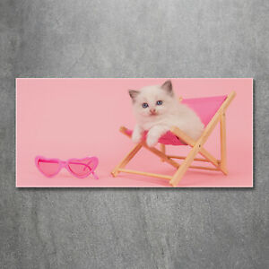 Acrylglas-Bild-Wandbilder-Druck-120x60-Deko-Tiere-Katze-Liegestuhl
