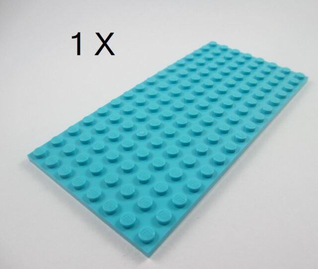 Details about  LEGO® Medium Azure Plate 8 x 16 Part 92438 - 2