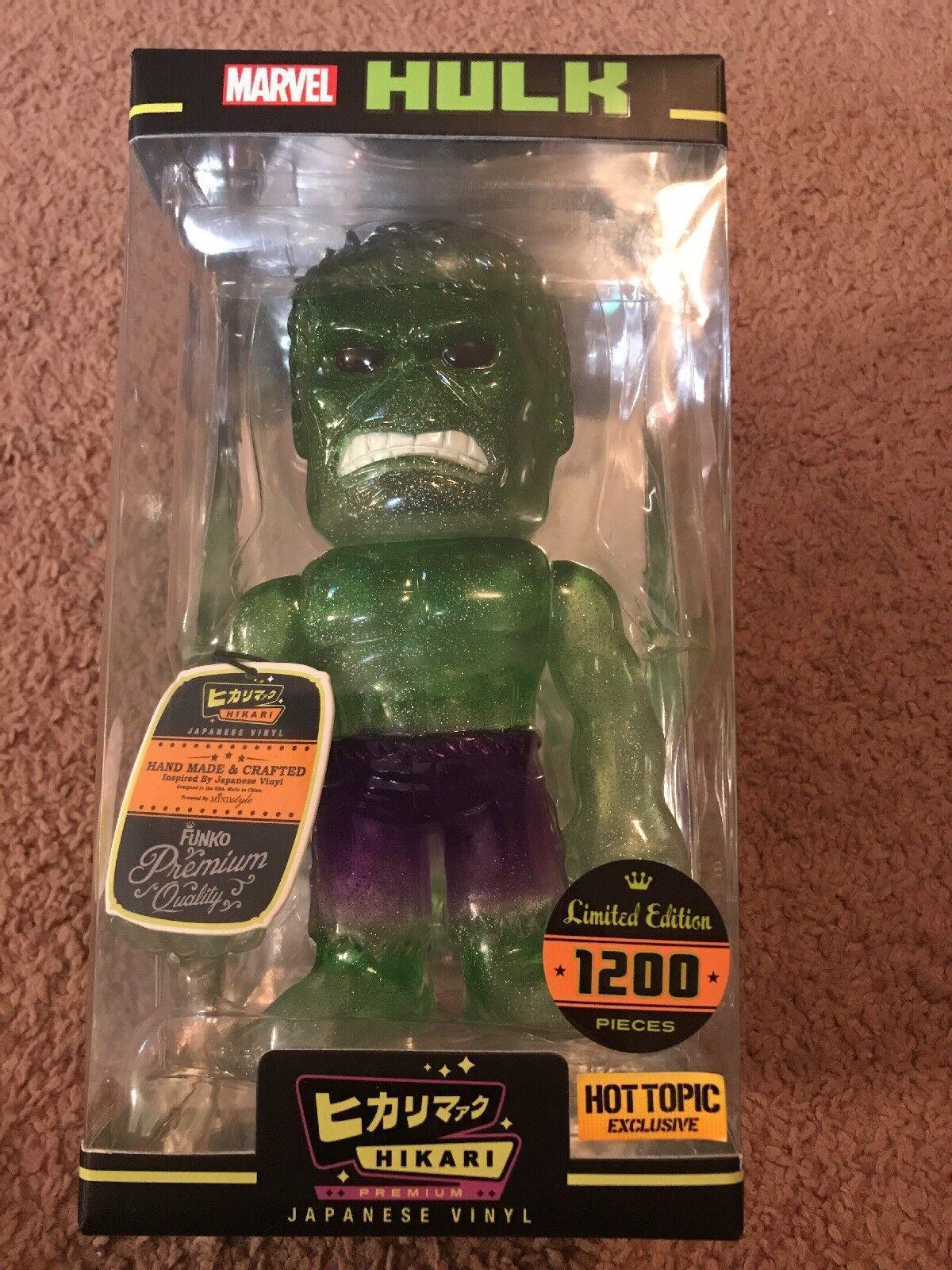 Hulk - grnen glitzer hikari bild - funko