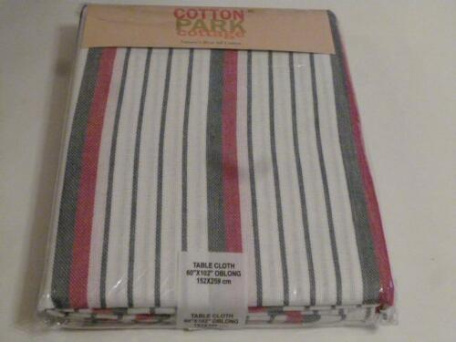 Memorial Day 4th of July Patriotic Tablecloth Red White Blue Stripes 3 Sizes NEW