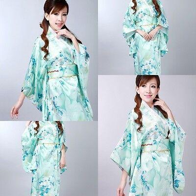 Retro kimono Japanese Yukata Obi kimono Geisha best comfortable dress for women