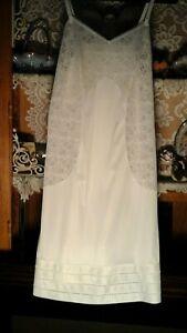60/'s white vanity fair nylon-antron slip  42 XL