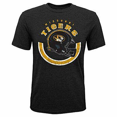 NCAA by Outerstuff NCAA Missouri Tigers Youth Boys Nebula Dri-Tek Short Sleeve Tee 14-16 Youth Large Black