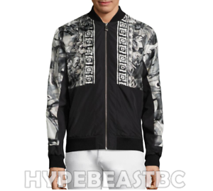 Collection Versace Watercolour print Bomberjack It48 Mensengrootte Us38 grafische CBxWdeEQro