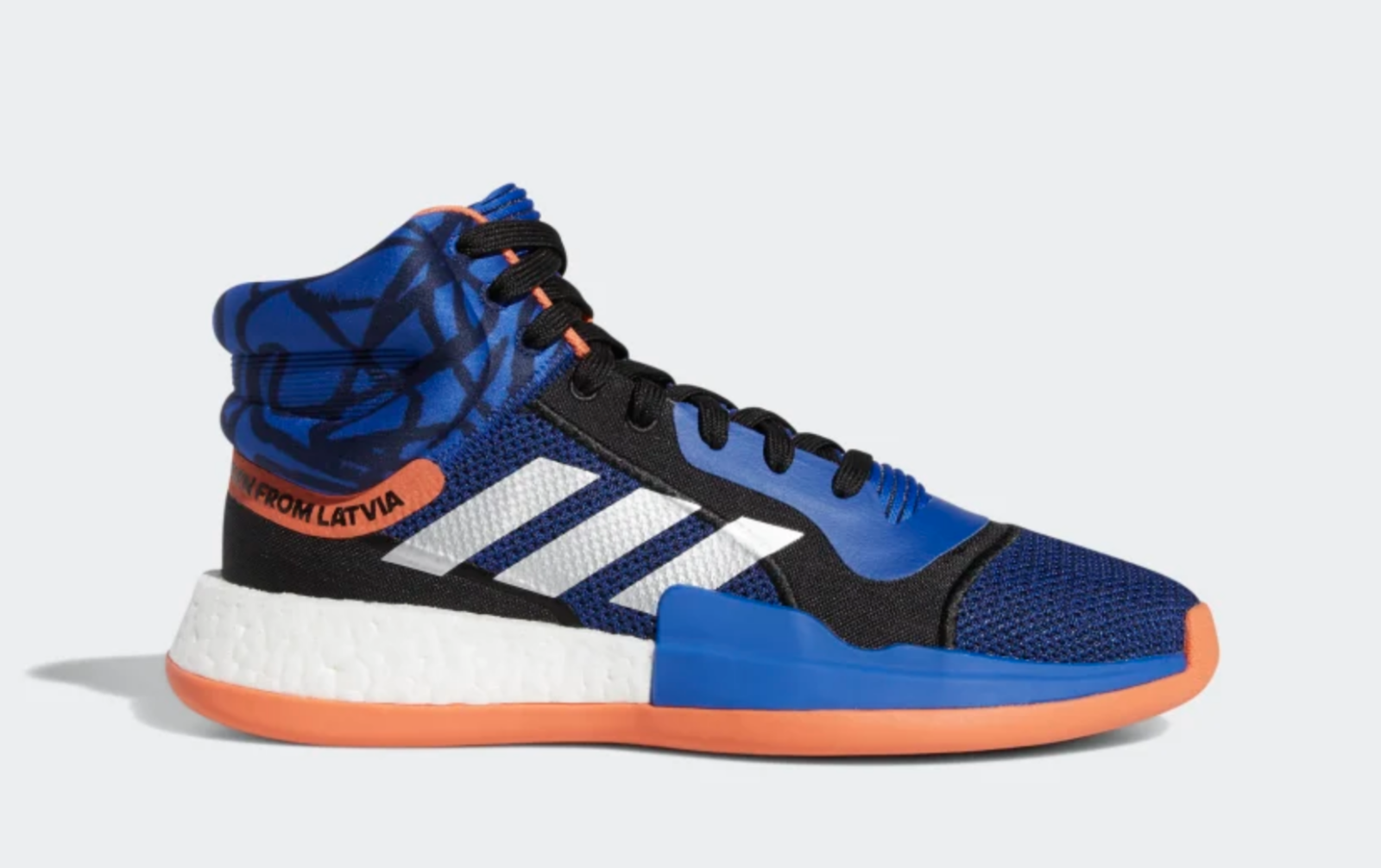 official photos 4ddbc 10d35 Adidas MARQUEE BOOST SHOES SHOES SHOES G27738 PORZINGIS bluee Black orange  New York Knicks a1 9699ea