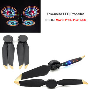 2-Pairs-LED-Low-Noise-Quick-release-Propeller-For-DJI-Mavic-Pro-Platinum-Drone